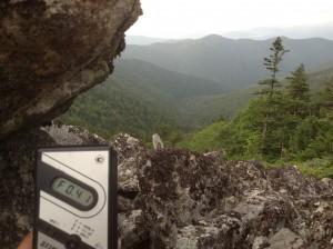 Измерение радиации в горах. Мощность эквивалентной дозы гамма-излучения.