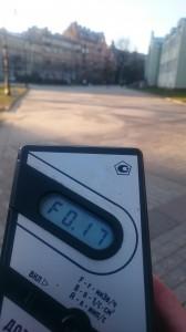 Измерение радиации в Александровском парке в Санкт-Петербурге