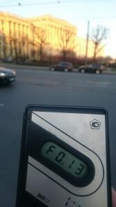 Измерения радиации на улице Куйбышева в Санкт-Петербурге