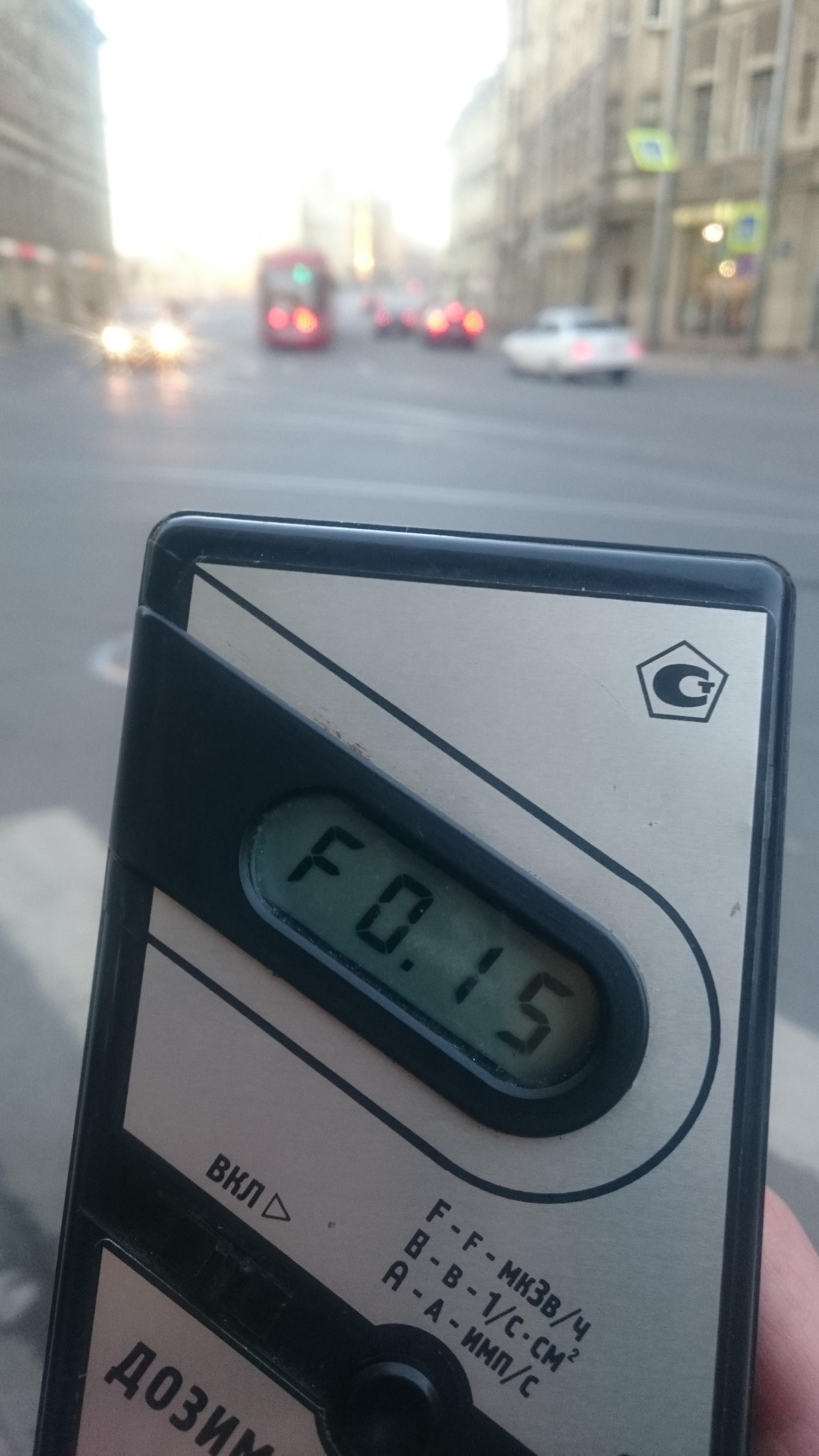 Точка измерения МЭД гамма-излучени на улице Чапаева у дома 2 в Санкт-Петербурге