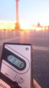 Измерение радиации в Санкт-Петербурге на Дворцовой площади