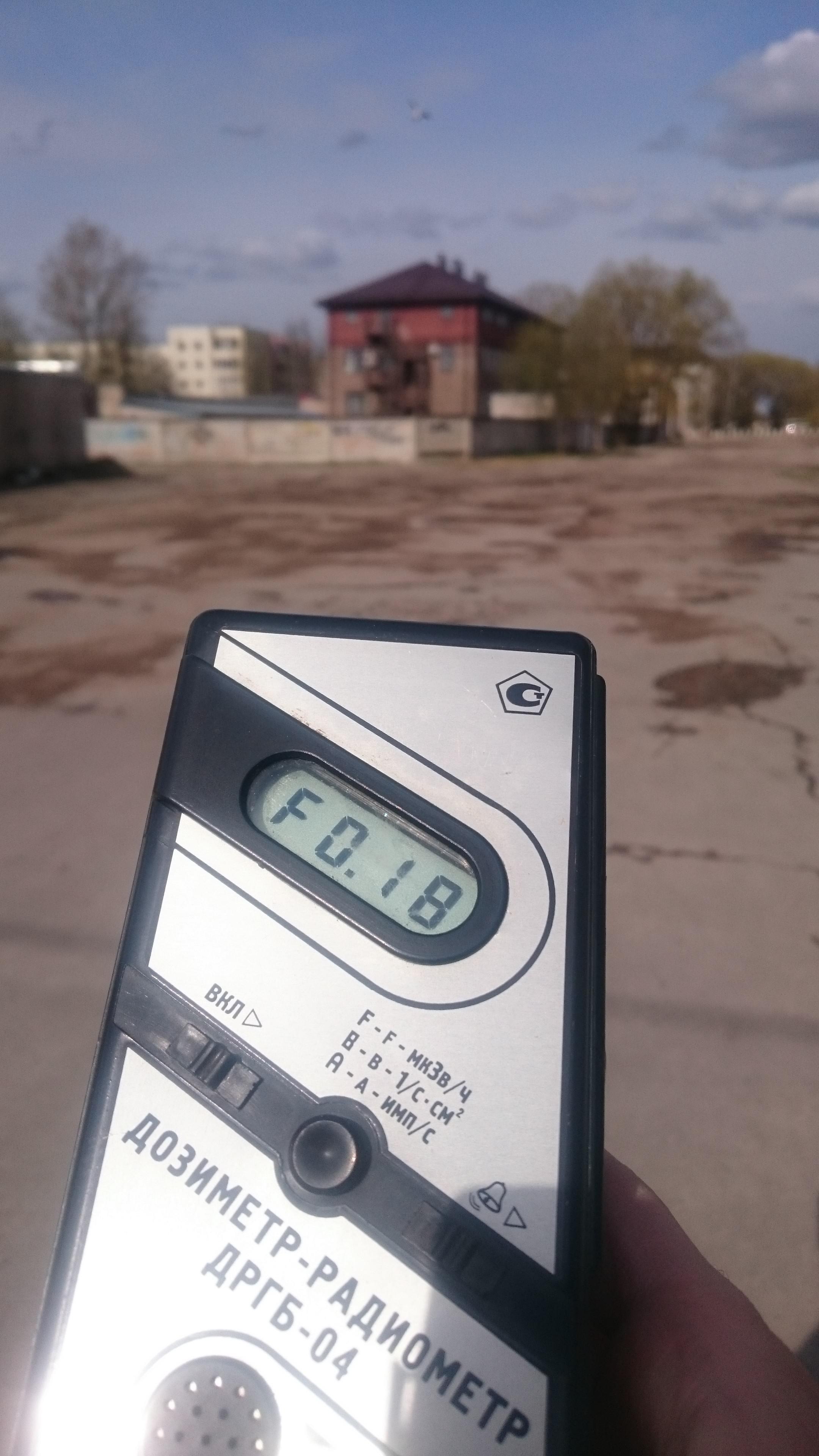 Точка измерения МЭД гамма-излучени в г. Великий Новгород