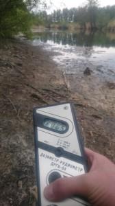 Радиация у берега реки Теча, поселок Муслюмово, Челябинская область