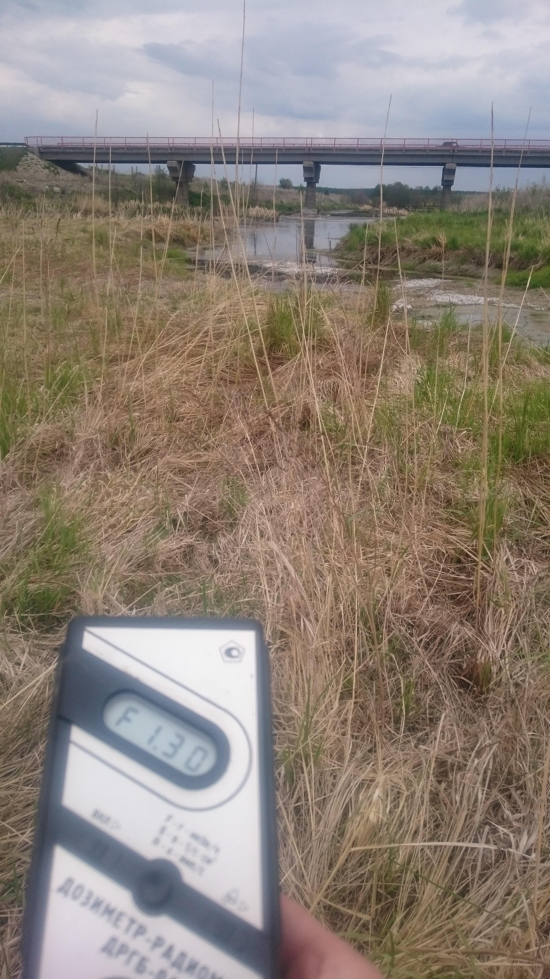 Точка измерения МЭД гамма-излучения на реке Теча в Челябинской области